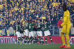 06 December 2015: Portland's Diego Valeri (ARG) is mobbed by teammates after scoring a first minute goal. The Columbus Crew SC hosted the Portland Timbers FC at Mapfre Stadium in Columbus, Ohio in MLS Cup 2015, Major League Soccer's championship game. Portland won the game 2-1.
