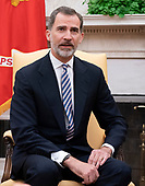 King Felipe VI of Spain meets with United States President Donald J. Trump at The White House in Washington, DC, June 19, 2018. Chris Kleponis/ CNP