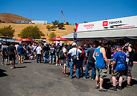 Jul 27, 2019; Sonoma, CA, USA; NHRA fans at the Toyota Racing Experience during qualifying for the Sonoma Nationals at Sonoma Raceway. Mandatory Credit: Mark J. Rebilas-USA TODAY Sports