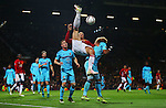 Zlatan Ibrahimovic of Manchester United attempts an over head kick during the UEFA Europa League match at Old Trafford, Manchester. Picture date: November 24th 2016. Pic Matt McNulty/Sportimage