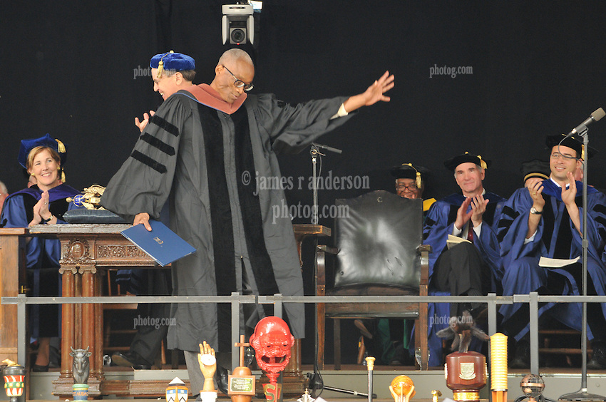 Bill T. Jones receives Honorary Doctorate in Fine Arts from Yale University | Commencement 2009. Credit Photography: James R Anderson
