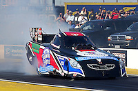 Feb. 22, 2013; Chandler, AZ, USA; NHRA funny car driver Jeff Diehl during qualifying for the Arizona Nationals at Firebird International Raceway. Mandatory Credit: Mark J. Rebilas-