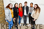 Rebecca Moroney, Faych Efeg Bare, Aisling O'Shea, Kieran Collins, Ebhrata Yosef and Caoimhe Butler attending the stage production of Chicago in Siamsa Tire on Thursday night .