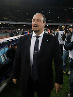 Rafael Benitez  in action during the Italian Serie A soccer match between SSC Napoli and AS Roma   at San Paolo stadium in Naples, March 09 , 2014