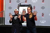 Kevin Smith and Jason Mewes Hand and Footprints at Chinese Theater