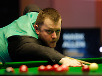 26th February 2020; Waterfront, Southport, Merseyside, England; World Snooker Championship, Coral Players Championship; Mark Allen (ENG) at the table during his first round match against Thepchaiya Un-Nooh (THA)