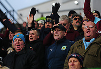 Burnley fans sing during the game <br /> <br /> Photographer Ashley Crowden/CameraSport<br /> <br /> The Premier League - Crystal Palace v Burnley - Saturday 13th January 2018 - Selhurst Park - London<br /> <br /> World Copyright &copy; 2018 CameraSport. All rights reserved. 43 Linden Ave. Countesthorpe. Leicester. England. LE8 5PG - Tel: +44 (0) 116 277 4147 - admin@camerasport.com - www.camerasport.com