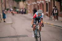 up the steep Riddrstraat<br /> <br /> 52nd GP Jef Scherens - Rondom Leuven 2018 (1.HC)<br /> 1 Day Race: Leuven to Leuven (186km/BEL)