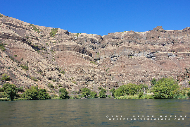 Canyon walls along the Deschutes River.