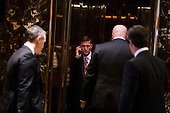 Michael Flynn arrives at Trump Tower in Manhattan, New York, U.S., on Thursday, January 12, 2017. <br /> Credit: John Taggart / Pool via CNP