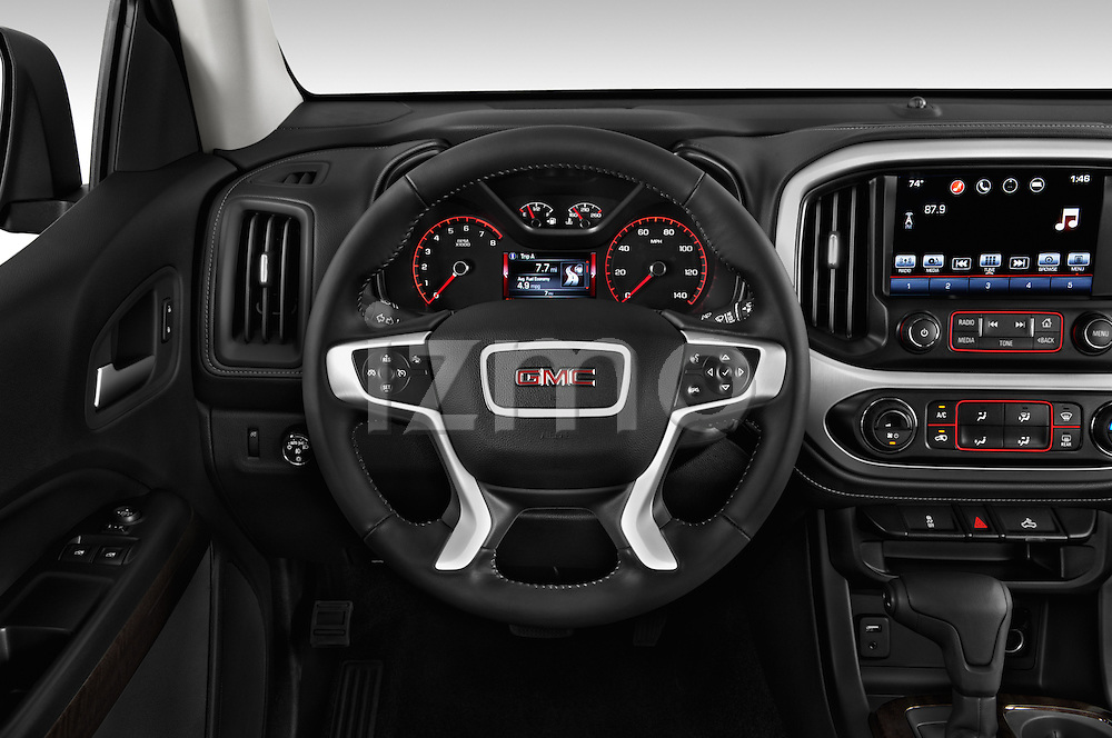 Car pictures of steering wheel view of a 2016 GMC Canyon 2WD SLE Extended Cab 4 Door Pick-up Steering Wheel