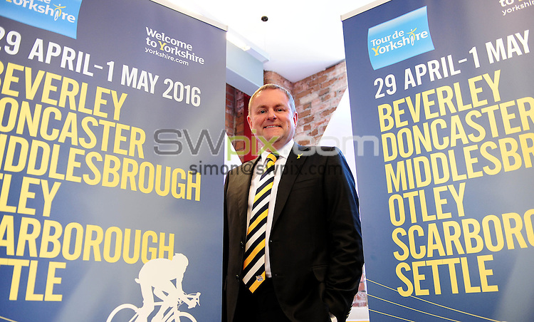 Picture by Simon Wilknson/SWpix.com 09/10/2015 - Cycling Tour de Yorkshire - 2016 host town city locations -<br /> Gary Verity<br /> copyright picture- Simon Wilkinson - simon@swpix.com