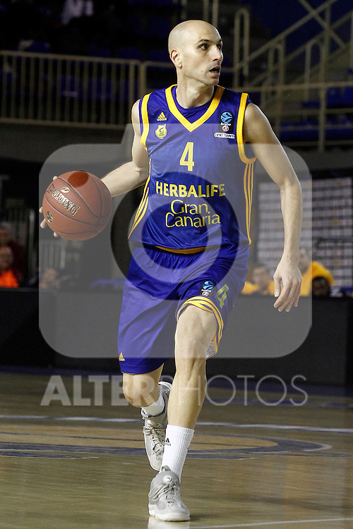 Herbalife Gran Canaria's Albert Oliver during Eurocup, Top 16, Round 2 match. January 10, 2017. (ALTERPHOTOS/Acero)