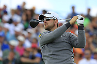 Bernd Wiesberger (AUT) tees off the 1st tee to start his match during Sunday's Final Round of the 117th U.S. Open Championship 2017 held at Erin Hills, Erin, Wisconsin, USA. 18th June 2017.<br /> Picture: Eoin Clarke | Golffile<br /> <br /> <br /> All photos usage must carry mandatory copyright credit (&copy; Golffile | Eoin Clarke)
