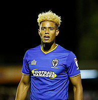 AFC Wimbledon's Lyle Taylor seen during the Sky Bet League 1 match between AFC Wimbledon and MK Dons at the Cherry Red Records Stadium, Kingston, England on 22 September 2017. Photo by Carlton Myrie / PRiME Media Images.