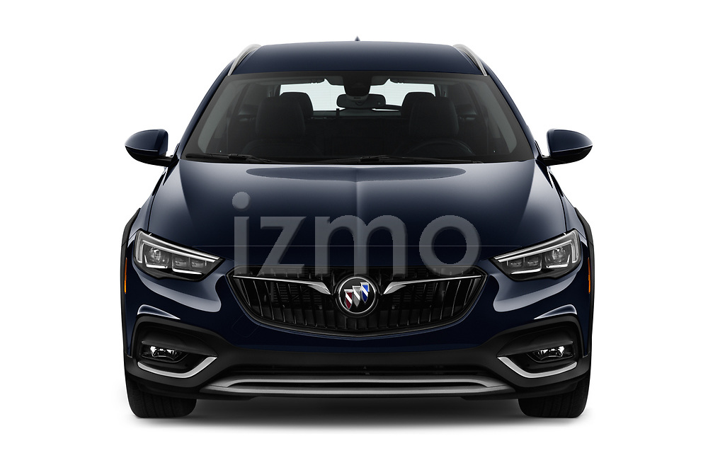 Car photography straight front view of a 2018 Buick Regal TourX Essence AWD 5 Door Wagon