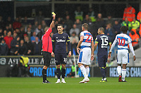 Angel Rangel of Queens Park Rangers is booked during Queens Park Rangers vs Derby County, Sky Bet EFL Championship Football at Loftus Road Stadium on 6th October 2018
