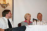 Matt Beckoff, Diana Sowle, Bob Hastings at 4th Annual Mid-Atlantic Nostalgia Convention in Aberdeen, Maryland. (Photo by Sue Coflin/Max Photos)