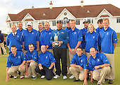 Fred Couples (USA) is The Senior British Open Champion 2012 with a score of 271, 9 under par: Seen here with the team from Turnberry. The Senior British Open Presented by Rolex was played over the Ailsa Course at Turnberry, Ayrshire, Scotland from 26th to 29th July 2012: Picture Stuart Adams www.golftourimages.com: 29th July 2012