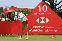 Nelly Korda (USA) in action on the 10th during Round 3 of the HSBC Womens Champions 2018 at Sentosa Golf Club on the Saturday 3rd March 2018.<br /> Picture:  Thos Caffrey / www.golffile.ie<br /> <br /> All photo usage must carry mandatory copyright credit (&copy; Golffile   Thos Caffrey)