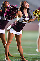 Texas State stutters perform before an NCAA Football game kickoff, Thursday, November 20, 2014 in San Marcos, TX. (Mo Khursheed/TFV Media via AP Images)