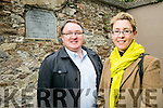 An audit of Audit of Historic Memorials, Plaques and Signs throughout the county by Victoria McCarthy, Architectural Conservation Offier Kerry County Council and TJ Mahony, Heritage Officer Kerry County Council. Pictured by a Plaque of FIAN PERCY HANNIFIN, who Died as a Result of Wounds Recieved in Action Against British Crown Forces (Black & Tans) at Pound Lane,Tralee, January 1922