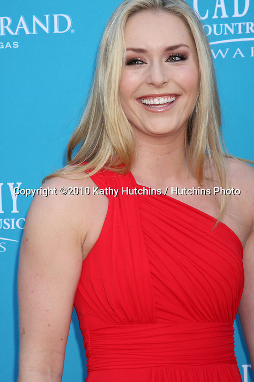 Lindsey Vonn.at the Academy Of Country Music Awards 2010.MGM Grand Arena.Las Vegas, NV.April 18, 2010.©2010 Kathy Hutchins / Hutchins Photo....