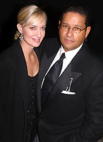 BRYANT GUMBEL AND WIFE #HILLARY GUMBEL 02/22/2003<br /> CLIVE DAVIS PRE-GRAMMY PARTY AT THE REGENT WALL STREET IN  NEW YORK <br /> Photo By John Barrett/PHOTOlink/MediaPunch
