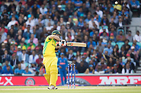 Glenn Maxwell (Australia) pulls a short delivery from Jasprit Bumrah (India) to the square boundary during India vs Australia, ICC World Cup Cricket at The Oval on 9th June 2019