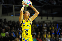 Elias Shadrock looks for support during the ANZ Netball Championship match between the Central Pulse and Waikato Bay Of Plenty Magic at TSB Bank Arena, Wellington, New Zealand on Monday, 30 March 2015. Photo: Dave Lintott / lintottphoto.co.nz