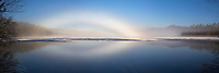 A Fogbow Forms Over Chocorua Lake in New Hampshire's White Mountains