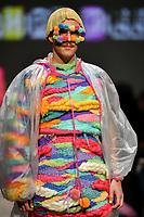 7 September 2017, Melbourne - Model parades design by student Sapphire Killeen during the Melbourne Fashion Week in Melbourne, Australia. (Photo Sydney Low / asteriskimages.com)