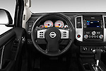 Car pictures of steering wheel view of a 2016 Nissan Frontier PRO-4X-Crew-Cab 4 Door Pickup Steering Wheel