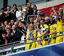 Captain Paul Jones of Barrow receives the FA Trophy after the Final between Barrow and Stevenage Borough at Wembley Stadium, London on 8th May,2010..© Kevin Coleman 2010.