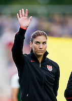 Hope Solo. The USWNT defeated Japan, 2-0,  at WakeMed Soccer Park in Cary, NC.