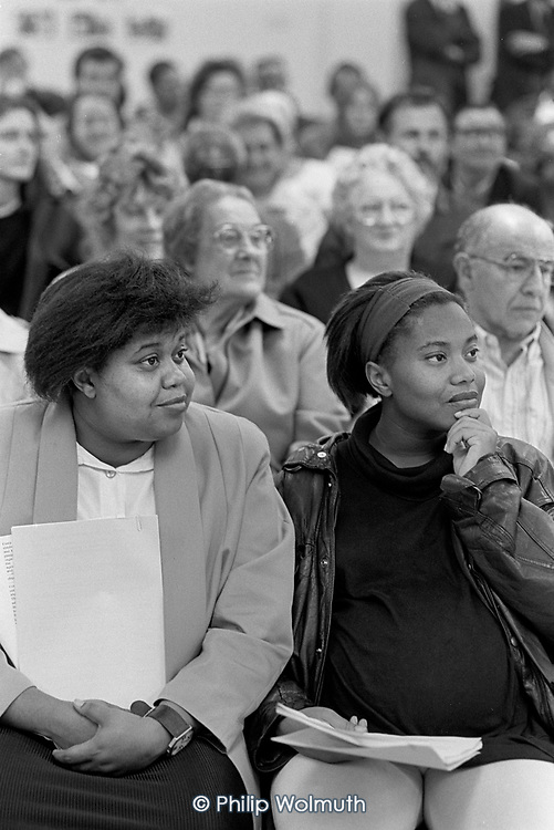 Walterton and Elgin Community Homes AGM, Elgin Estate, North Paddington, London 1994.