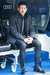 Atletico de Madrid coach Diego Simeone during La Liga match between Real Madrid and Atletico de Madrid at Santiago Bernabeu Stadium in Madrid, Spain. April 08, 2018. (ALTERPHOTOS/Borja B.Hojas)