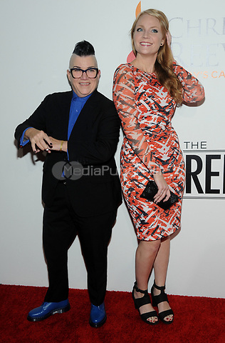 NEW YORK, NY - NOVEMBER 02: Lea DeLaria and Emily Tarver attends the Samsung annual charity gala 2017 at Skylight Clarkson Square on November 2, 2017 in New York City. Credit: John Palmer/MediaPunch
