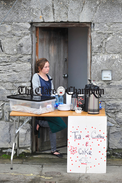 Niamh Keady Tabbal on duty during Cruinniú Na mBad in Kinvara. Photograph by Declan Monaghan