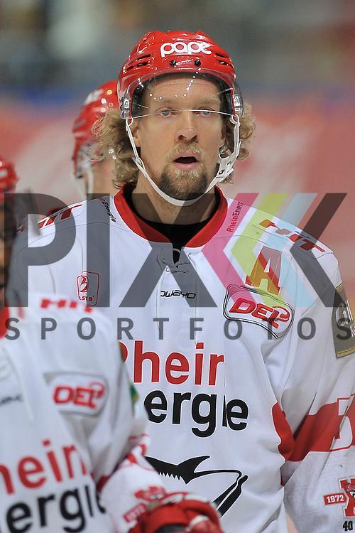 Koelns Daniel Tjernqvist (Nr.34)  beim Spiel in der DEL, Adler Mannheim - Koelner Haie<br /> <br /> Foto &copy; Ice-Hockey-Picture-24 *** Foto ist honorarpflichtig! *** Auf Anfrage in hoeherer Qualitaet/Aufloesung. Belegexemplar erbeten. Veroeffentlichung ausschliesslich fuer journalistisch-publizistische Zwecke. For editorial use only.
