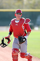 Tucker Barnhart, Cincinnati Reds minor league spring training..Photo by:  Bill Mitchell/Four Seam Images.