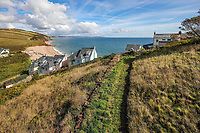 BNPS.co.uk (01202 558833)<br /> Pic: March&Petit/BNPS<br /> <br /> The home has amaing views<br /> <br /> A charming clifftop cottage which offers breathtaking views of the English channel has emerged on the market for £450,000.<br /> <br /> Mildmay Cottage, in the fishing village of North Hallsands, Devon, backs on to the scenic South West Coastal Path.<br /> <br /> The front door of the three bedroom early 20th century former fisherman's property is just 4ft from the cliff edge.<br /> <br /> It looks out over Start Bay with its historic early 19th century lighthouse and the spectacular Dartmouth headland.<br /> <br /> The home is for sale with estate agent Marchard Petit who say the area is celebrated for its numerous unspoilt coves and beaches.