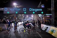 warming up minutes before the start of the men's race<br /> <br /> 44th Superprestige Diegem (BEL) 2018<br /> ©kramon