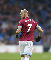 West Ham United's Marko Arnautovic<br /> <br /> Photographer Rob Newell/CameraSport<br /> <br /> The Premier League - Cardiff City v West Ham United - Saturday 9th March 2019 - Cardiff City Stadium, Cardiff<br /> <br /> World Copyright © 2019 CameraSport. All rights reserved. 43 Linden Ave. Countesthorpe. Leicester. England. LE8 5PG - Tel: +44 (0) 116 277 4147 - admin@camerasport.com - www.camerasport.com
