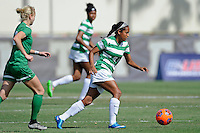 8 November 2015:  North Texas Midfield Karla Pineda (9) advances the ball in the first half as the University of North Texas Mean Green defeated the Marshall University Thundering Herd, 1-0, in the Conference USA championship game at University Park Stadium in Miami, Florida.