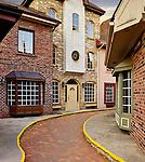 Historic old city street architecture Burlington Ontario Canada