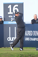 Shane Lowry (IRL) on the 16th tee during the Final Day of the Alfred Dunhill Links Championship at St. Andrews Golf Club on Sunday 29th September 2013.<br /> Picture:  Thos Caffrey / www.golffile.ie