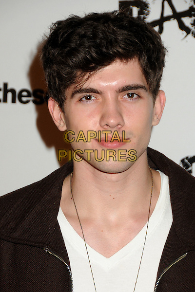 "Carter Jenkins.""Rage"" Video Game Launch Party held in Chinatown's Historical Central Plaza, Los Angeles, California, .30th September 2011..portrait headshot white t-shirt black .CAP/ADM/BP.©Byron Purvis/AdMedia/Capital Pictures."