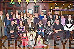 BIRTHDAY GIRL: Teresa Dowd, Alderwood Road, Tralee (seated 4th left) enjoying a great time celebrating her 50th birthday with family and friends at the Meadowlands hotel, Tralee on Saturday.