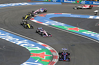 27th October 2019, Autodromo HermanRodriguez, Mexico City, Mexico; F1 Grand Prix of Mexico, Race Day;  10 Pierre Gasly FRA, Red Bull Toro Rosso Honda, 11 Sergio Perez MEX, Racing Point F1 Team